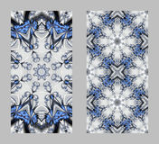 Telefon komórkowy pokrywa z powrotem z pięknym wzorem w fractal projekcie Zdjęcia Royalty Free