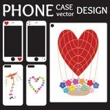 Telefon komórkowy pokrywy z powrotem i ekranu kolekcja Obrazy Royalty Free