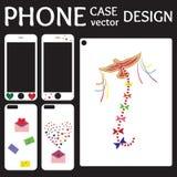Telefon komórkowy pokrywy z powrotem i ekranu kolekcja Obraz Royalty Free