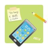 telefon komórkowy przypomnienia majcher ilustracja wektor
