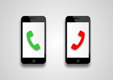 Telefon komórkowy rozmówca wskazuje royalty ilustracja