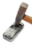 telefon komórkowy roztrzaskujący Fotografia Stock