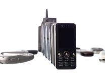 telefon komórkowy rząd fotografia stock