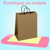 Telefon komórkowy sercowatą ikonę Obraz Royalty Free
