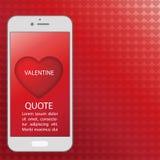 Telefon komórkowy sercowatą ikonę Zdjęcie Royalty Free