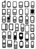 telefon komórkowy smartphones Zdjęcia Royalty Free