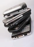 telefon komórkowy sterta obraz stock