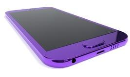 Telefon komórkowy tło barwił metal, 3d rendering Royalty Ilustracja