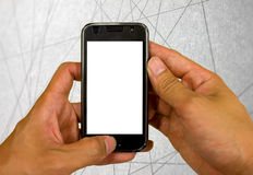 Telefon komórkowy technologii abstrakta linii tło Obraz Royalty Free