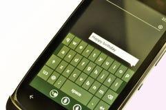 TELEFON KOMÓRKOWY wiadomość tekstowa Obrazy Royalty Free