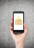 Telefon komórkowy z emailem zdjęcia stock