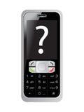 telefon komórkowy zapytania s ekranu znak Obraz Royalty Free