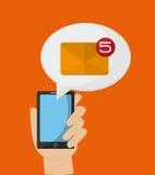 Telefon komórkowy przesyłanie wiadomości wizerunek Obraz Royalty Free