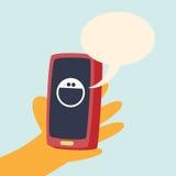 Telefon-Lächeln-Gespräch Stockbilder