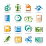 Telefon-Leistung, Geschäft und Büro-Ikonen vektor abbildung