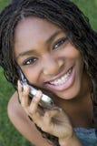 Telefon-Mädchen lizenzfreies stockfoto