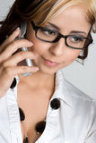 Telefon-Mädchen Lizenzfreie Stockfotografie