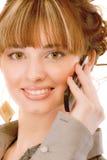 telefon mówi który kobiet potomstwa Fotografia Stock