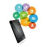 Telefon-Medien-Chat Stockfoto