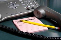 Telefon-Meldung stockfoto