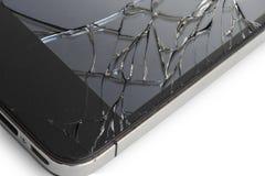 Telefon mit defekter Anzeige Stockfoto