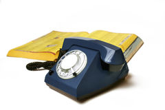 Telefon mit dem Telefonbuch Lizenzfreies Stockbild