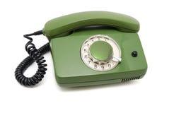 Telefon mit einer Platte Lizenzfreies Stockfoto