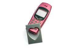 Telefon mit Foto Stockbilder