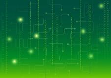 Telefon mit Planetenerde und binärem Code Stockbilder