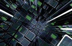 Telefon mit Planetenerde und binärem Code Stockfotografie