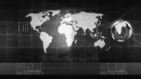 Telefon mit Planetenerde und binärem Code stock video