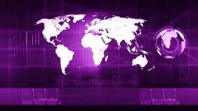 Telefon mit Planetenerde und binärem Code stock footage