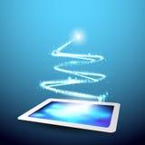 Telefon mit Planetenerde und binärem Code Lizenzfreies Stockfoto