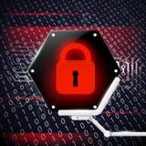 Telefon mit Planetenerde und binärem Code Auf lagerabbildung Lizenzfreie Stockbilder
