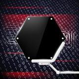 Telefon mit Planetenerde und binärem Code Auf lagerabbildung Stockbilder