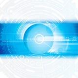 Telefon mit Planetenerde und binärem Code Lizenzfreies Stockbild