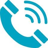 Telefon mit Schallwelle-Ikone Lizenzfreie Abbildung