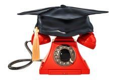 Telefon mit Staffelungskappe, Wiedergabe 3D Lizenzfreie Stockfotos
