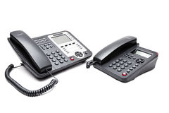 Telefon mit zwei Büros stockfotos