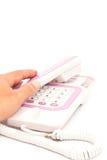 Telefon na biały papierze fotografia royalty free