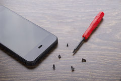 Telefon naprawa Ekstra dodatkowe części obrazy stock