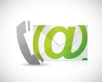 Telefon och email. illustrationdesign stock illustrationer