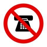 Telefon och förbudtecken stock illustrationer