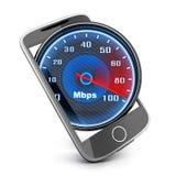 Telefon- och internethastighet vektor illustrationer