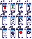 Telefon och meddelande på skärmen Fotografering för Bildbyråer
