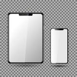 Telefon och minnestavla, tom skärm EPS10 stock illustrationer