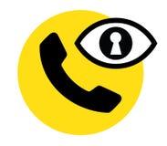 Telefon och säkerhet royaltyfri illustrationer