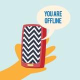 Telefon Offline royaltyfri illustrationer