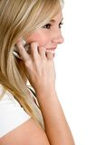 Telefon-Person Stockfoto