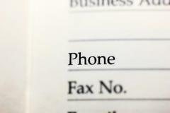 Telefon pisać na papierze Obraz Stock